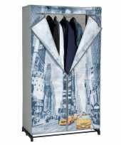 Mobiele opvouwbare kledingkast new york 156 cm trend