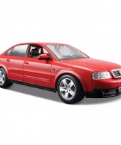Modelauto audi a4 rood 1 24 trend