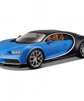 Modelauto bugatti chiron 1 43 blauw trend