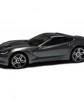 Modelauto chevrolet corvette grijs 1 43 trend