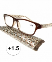 Modieuze leesbril 1 5 fantasy bruin trend
