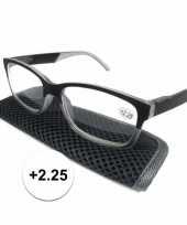 Modieuze leesbril 2 25 antraciet grijs trend