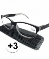 Modieuze leesbril 3 antraciet grijs trend