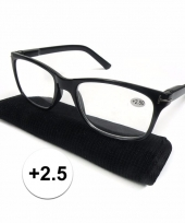 Modieuze zwarte leesbril 2 5 trend