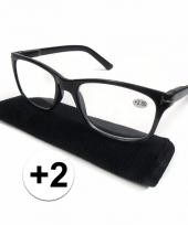 Modieuze zwarte leesbril 2 trend