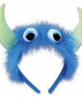 Monster verkleed haarband blauw groen trend