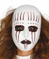 Moordenaar mime masker voor horror themafeest trend
