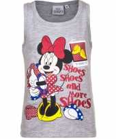 Mouwloos minnie mouse t-shirt grijs trend
