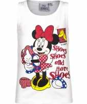 Mouwloos minnie mouse t-shirt wit trend