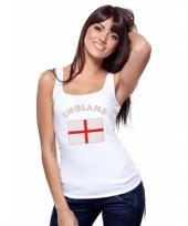 Mouwloos shirt met vlag engeland print voor dames trend
