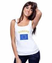 Mouwloos shirt met vlag europa print voor dames trend