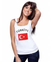 Mouwloos shirt met vlag turkije print voor dames trend
