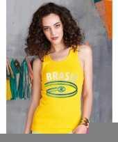 Mouwlose shirts met vlag van brazilie dames trend 10048402