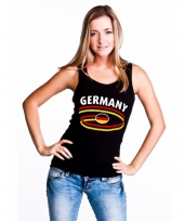 Mouwlose shirts met vlag van duitsland dames trend