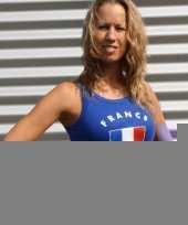 Mouwlose shirts met vlag van frankrijk dames trend