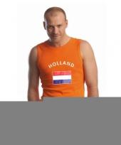 Mouwlose shirts met vlag van holland heren trend