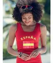 Mouwloze shirts met vlag van spanje dames trend