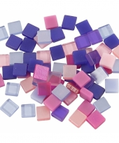 Mozaiek tegels kunsthars paars roze 5x5 trend