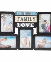 Multi zwarte fotolijst family love 46 x 29 cm trend