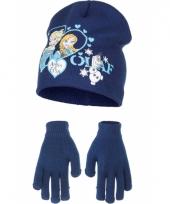 Muts en handschoenen frozen blauw trend