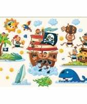 Muur deco stickers pirateneiland 22 cm trend