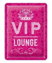 Muurplaat vip lounge roze 15 x 20 cm trend