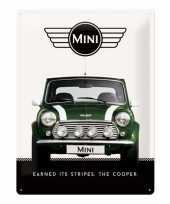 Muurplaatje mini cooper trend
