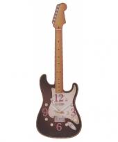 Muziek klok zwarte gitaar 50 cm trend
