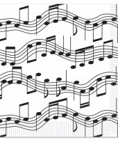 Muzieknoot servetten 16 stuks trend