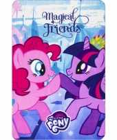 My little pony friends fleece deken plaid voor meisjes trend