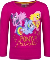 My little pony shirt fuchsia lange mouwen trend
