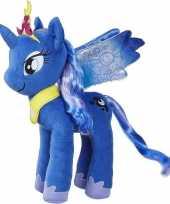 My little pony speelgoed artikelen pony paard knuffelbeest luna 35 cm trend