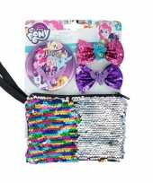 My little pony toilettas set met 2 haarclips en 1 spiegel trend