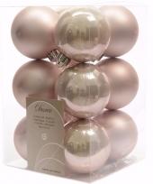 Mystic christmas kerstboom decoratie kerstballen roze 12 x trend