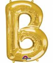 Naam versiering gouden letter ballon b trend