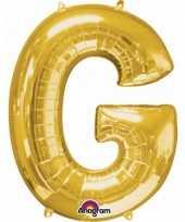 Naam versiering gouden letter ballon g trend