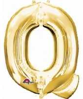 Naam versiering gouden letter ballon q trend