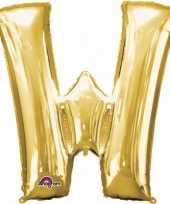 Naam versiering gouden letter ballon w trend