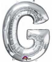 Naam versiering zilveren letter ballon g trend