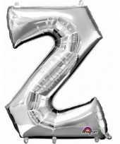 Naam versiering zilveren letter ballon z trend