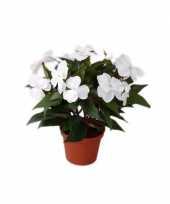 Namaak wit vlijtig liesje plantje 25 cm trend