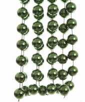 Nature christmas kerstversiering sterren grove kralen ketting groen 270 cm trend