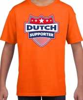 Nederland dutch schild supporter t-shirt oranje voor kinder trend