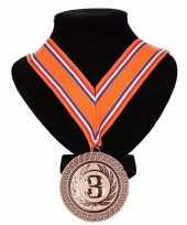 Nederlands lint nr 3 medaille oranje rood wit blauw trend