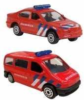 Nederlandse brandweer speelgoed modelauto set 2 dlg trend
