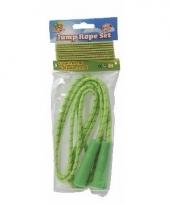 Neon groen springtouw en elastiek trend