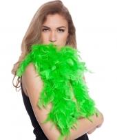 Neon groene boas met veren 180 cm trend