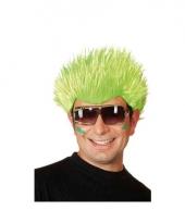 Neon groene pruik voor volwassenen trend