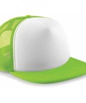 Neon lime groene baseballcap trend