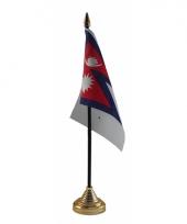 Nepalese tafelvlag met standaard trend